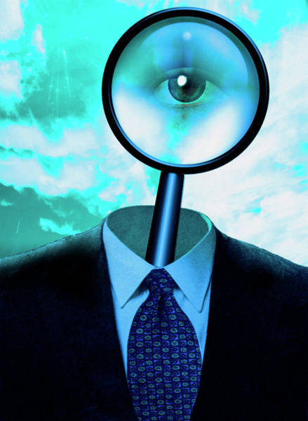 Photograph - Eye In Magnify Glass. Business Suit by Bruce Rolff