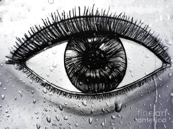 Drawing - Eye In The Rain by Debra Lynch