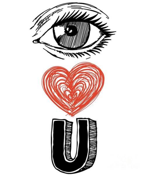 Digital Art - Eye Love You by Flippin Sweet Gear