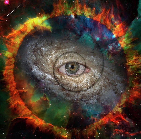 Wall Art - Painting - Eye Of God In The Center Of Galaxy by Bruce Rolff