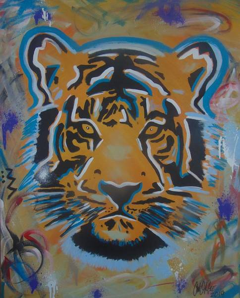 Painting - Eye Of The Big Tiger by Antonio Moore