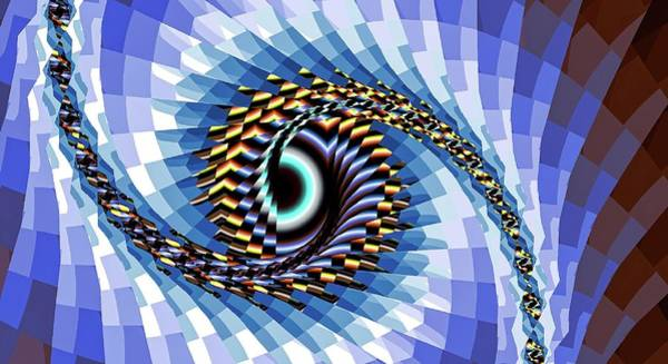 Digital Art - Eye Upon You Blue by Don Northup