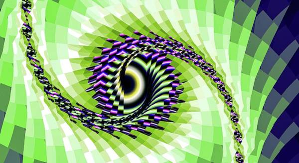 Digital Art - Eye Upon You Green by Don Northup