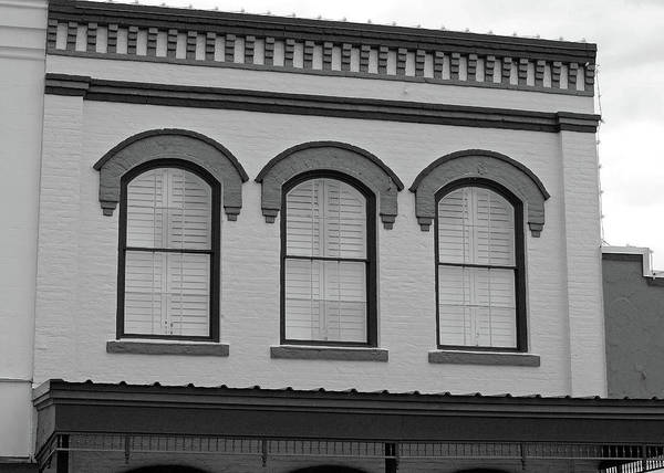 Photograph - Eyebrow Windows In Bellville Texas B W  by Connie Fox