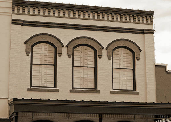 Photograph - Eyebrow Windows In Bellville Texas Sepia  by Connie Fox