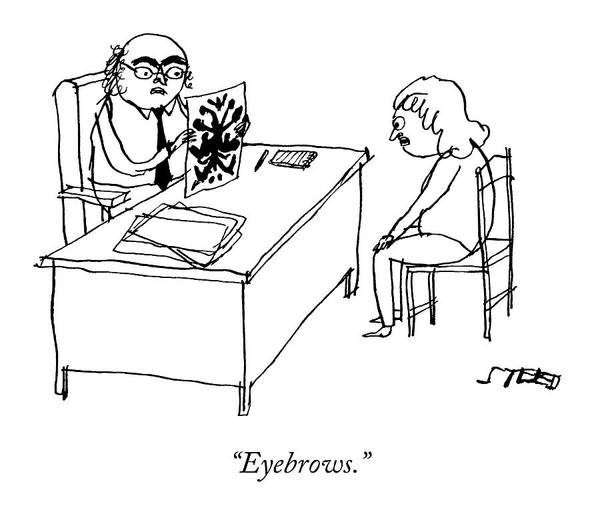 Therapist Drawing - Eyebrows by Edward Steed