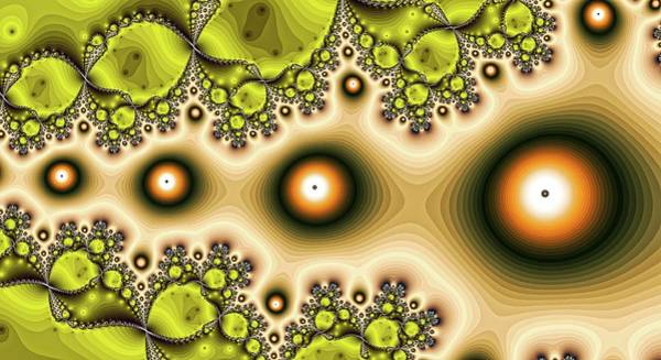 Digital Art - Eyes Left God Orange by Don Northup