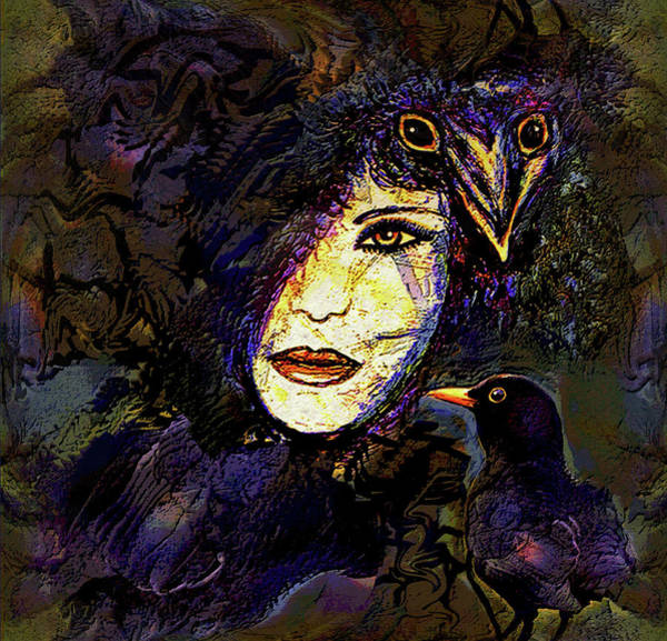 Wall Art - Mixed Media - Eyes Of The Raven by Natalie Holland