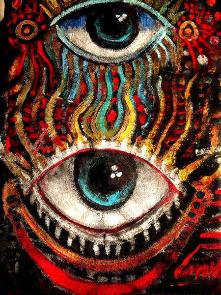 Painting - Eyes On You by Amzie Adams