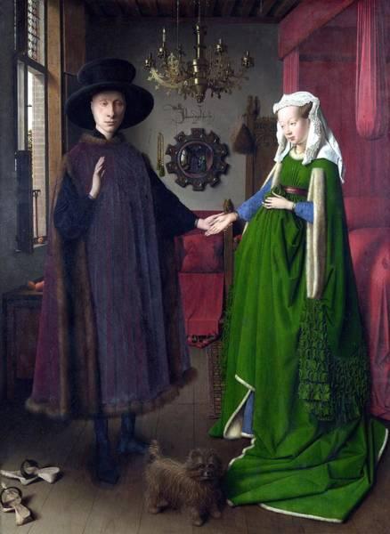 Arnolfini Painting - Eyk, Jan Van - The Arnolfini Portrait by European Paintings