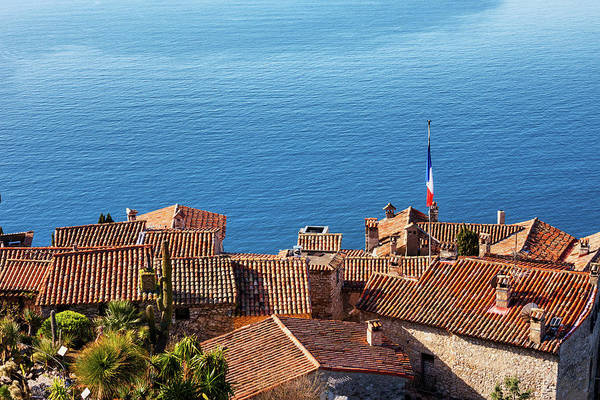 Wall Art - Photograph - Eze Village Houses And The Sea In France by Artur Bogacki