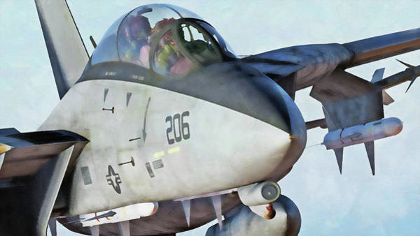 Painting - F-14 Tomcat - 11  by Andrea Mazzocchetti
