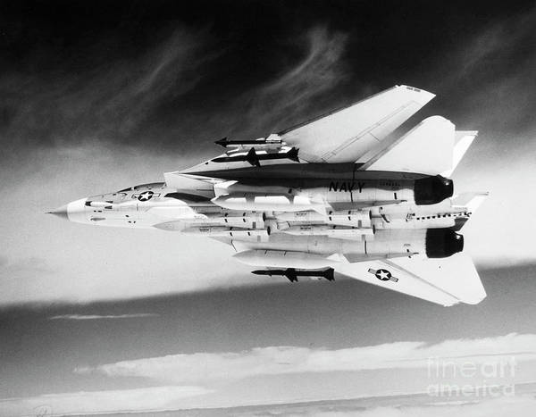 Wall Art - Photograph - F-14 Tomcat Fighter Plane by Granger