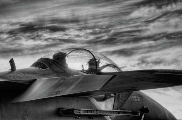 Photograph - F-15-e Sunset Black And White by JC Findley