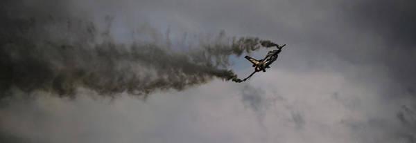 Photograph - F-16c Fighting Falcon Against Dark Skies by Scott Lyons