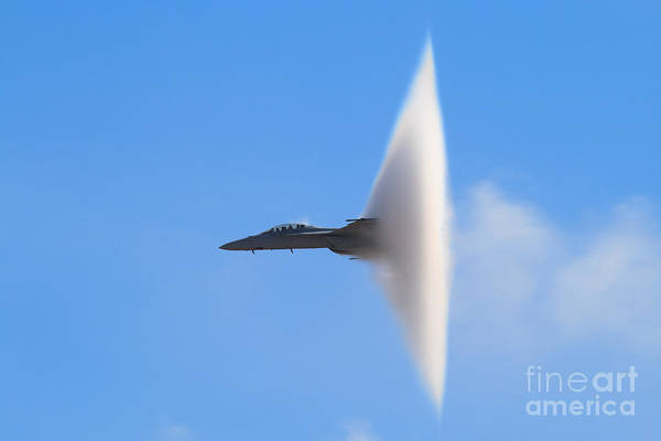 Wall Art - Photograph - F-18 Super Hornet Vapor Cone - A by Svsimagery