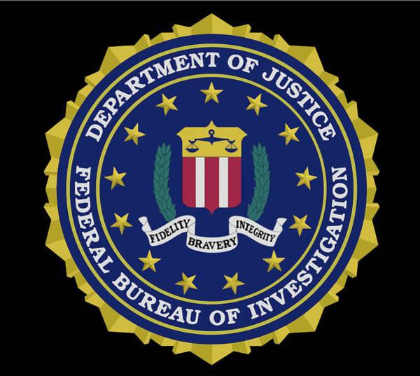 Wall Art - Digital Art - F B I - Federal Bureau Of Investigation Logo by Daniel Hagerman