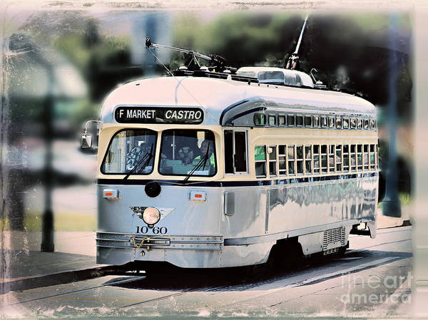 Wall Art - Photograph - F Market Castro Vintage Streetcar by Diann Fisher