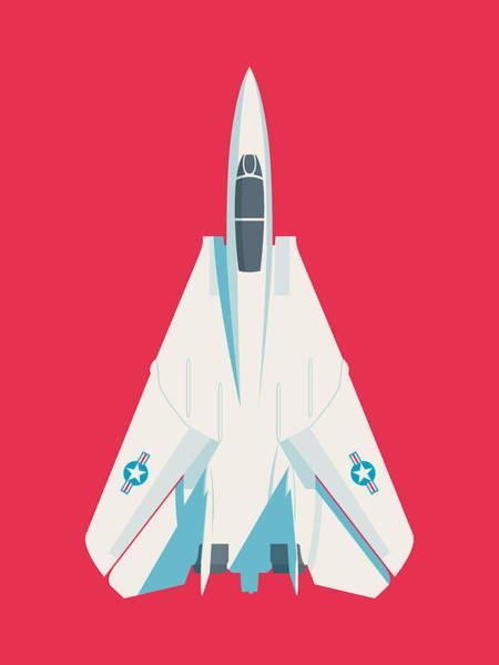 Jet Digital Art - F14 Tomcat Fighter Jet Aircraft - Crimson by Ivan Krpan