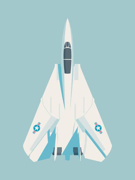 Jet Digital Art - F14 Tomcat Fighter Jet Aircraft - Sky by Ivan Krpan