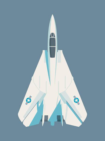 Jet Digital Art - F14 Tomcat Fighter Jet Aircraft - Slate by Ivan Krpan