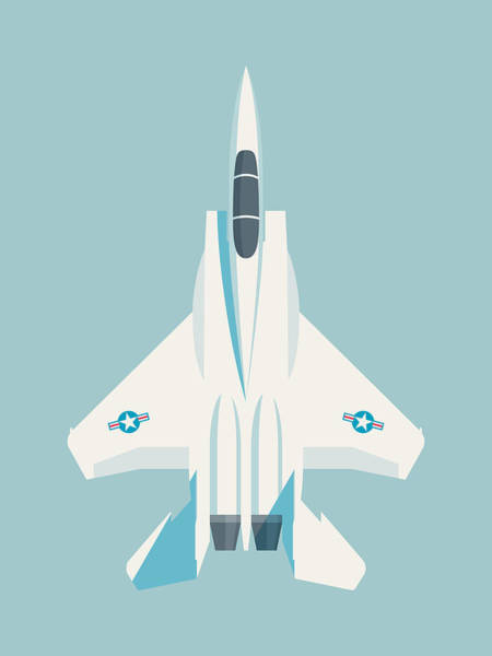 Aircraft Digital Art - F15 Eagle Fighter Jet Aircraft - Sky by Ivan Krpan