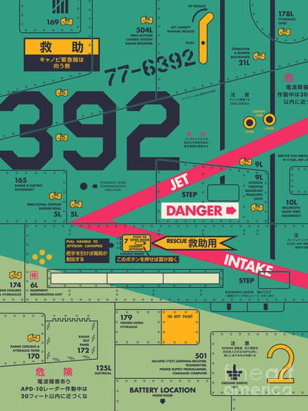 Wall Art - Digital Art - F4 Phantom Jet Air Intake Detail - Green by Ivan Krpan