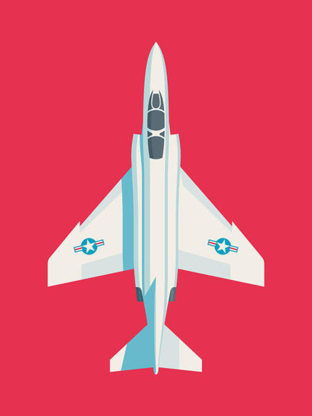 Jet Digital Art - F4 Phantom Jet Fighter Aircraft - Crimson by Ivan Krpan