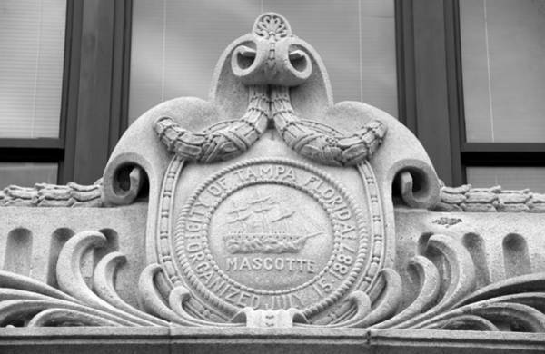 Wall Art - Photograph - Photography Of The Seal Of Tampa On The City Hall Building.  by David Lee Thompson