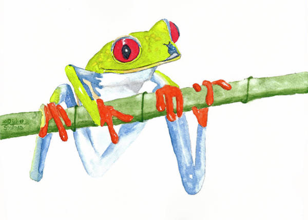 Painting - Fabio T Frog by Rich Stedman
