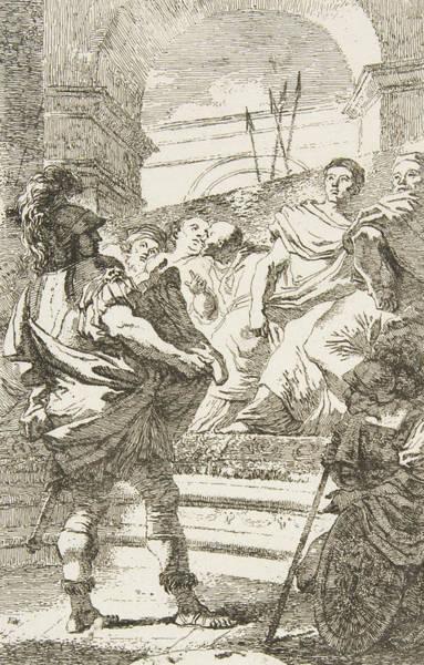 Relief - Fabius Maximus Before The Senate At Carthage by Jean-Honore Fragonard