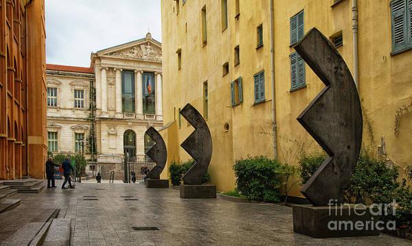 Photograph - Fabulous Public Modern Art Palais De La Justice Nice France by Wayne Moran