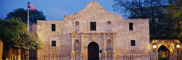 Wall Art - Photograph - Facade Of A Church, Alamo, San Antonio by Panoramic Images