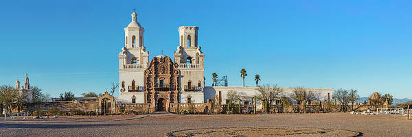 Wall Art - Photograph - Facade Of A Church, Mission San Xavier by Panoramic Images
