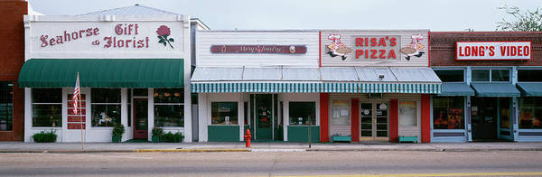 Wall Art - Photograph - Facade Of Stores, Downtown Business by Panoramic Images