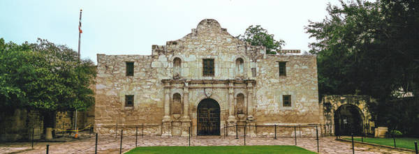 Wall Art - Photograph - Facade Of The Alamo Mission In San by Panoramic Images