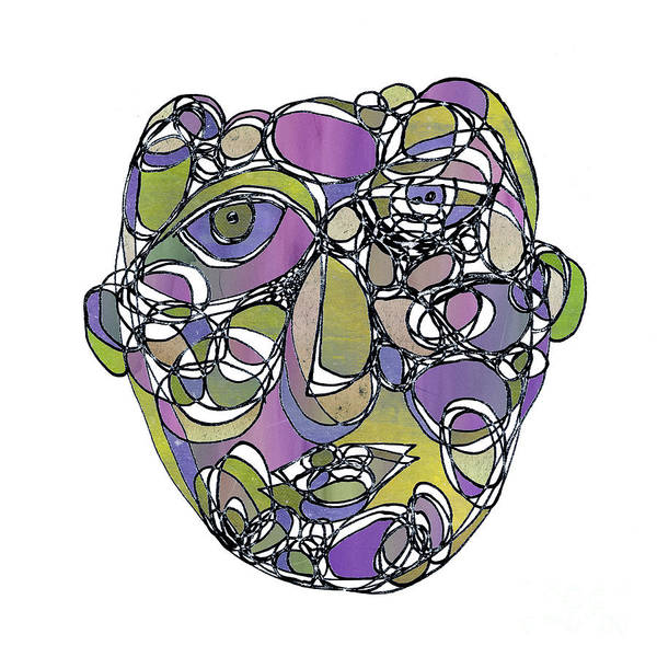 Wall Art - Drawing - Face Cerclism - V15gc2 by Variance Collections