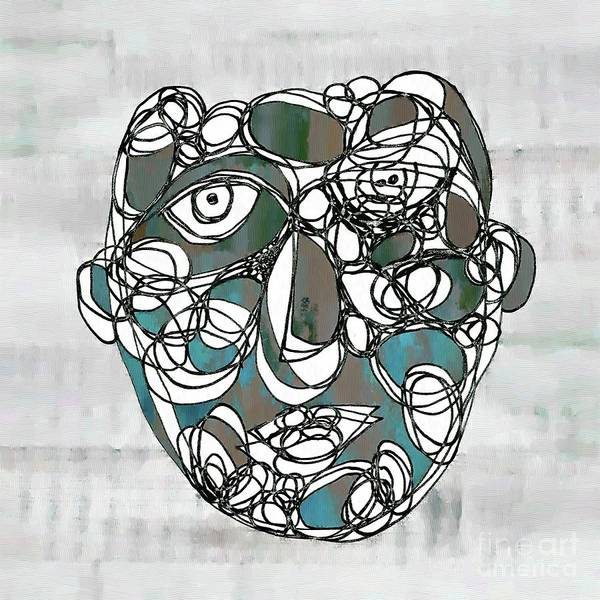 Wall Art - Drawing - Face Cerclisme - V15btc2 by Variance Collections