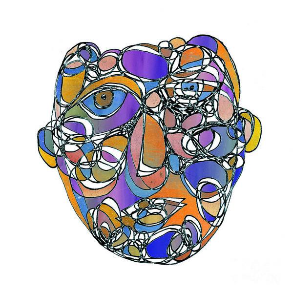 Face Cerclisme - V15g7 Art Print