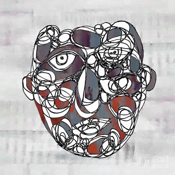 Wall Art - Drawing - Face Cerclisme - V1a5c1 by Variance Collections