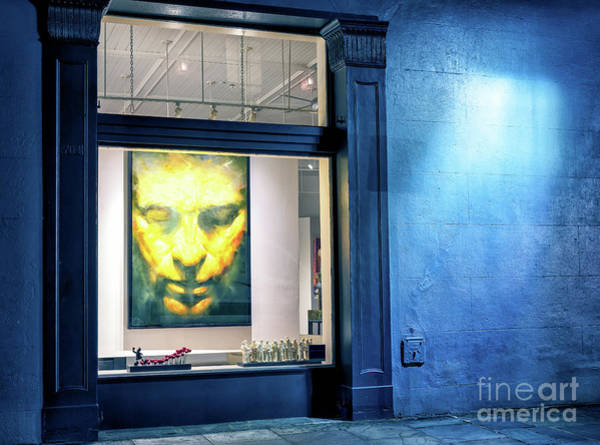 Photograph - Face In Window At Night In New Orleans by John Rizzuto
