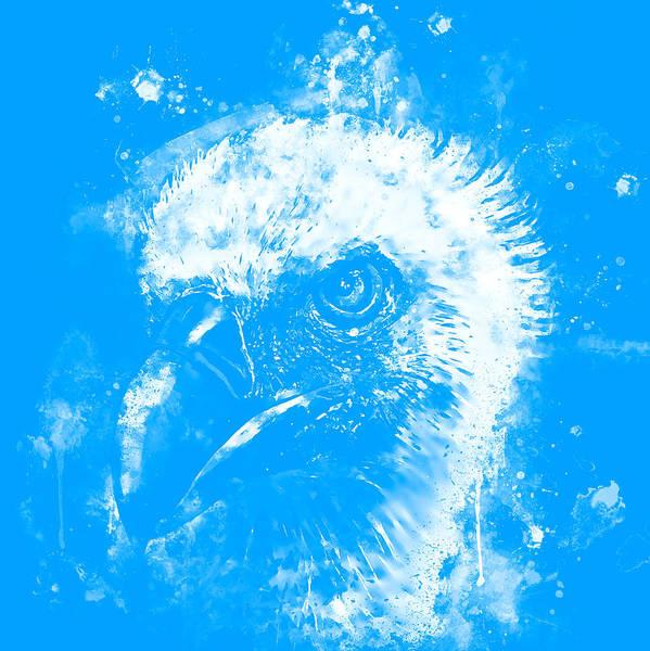 Wall Art - Digital Art - Face Of A Vulture Wswb by Gxp-Design
