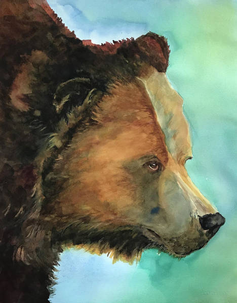 Painting - Face To Face Bear by Joan Chlarson