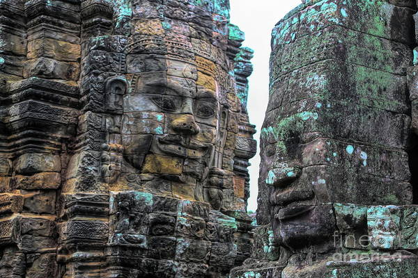 Wall Art - Photograph - Faces Of Bayon Temple  by Chuck Kuhn
