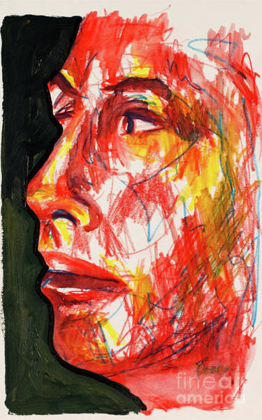 Primary Colors Drawing - Facial Abstraction by Robert Yaeger