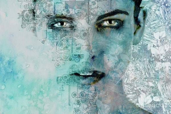 Wall Art - Digital Art - Facing - A11v7 by Variance Collections