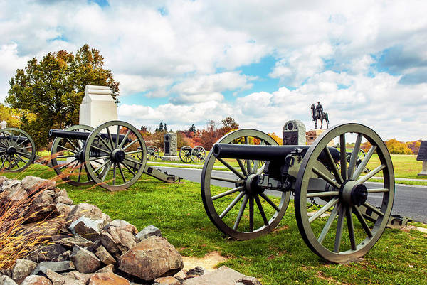 Photograph - Facing Pickett's Charge by Paul W Faust - Impressions of Light