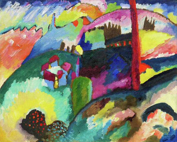 Wall Art - Painting - Factory Chimney - Digital Remastered Edition by Wassily Kandinsky
