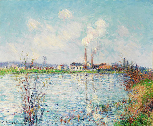 Wall Art - Painting - Factory On The Banks Of The Oise by Gustave Loiseau