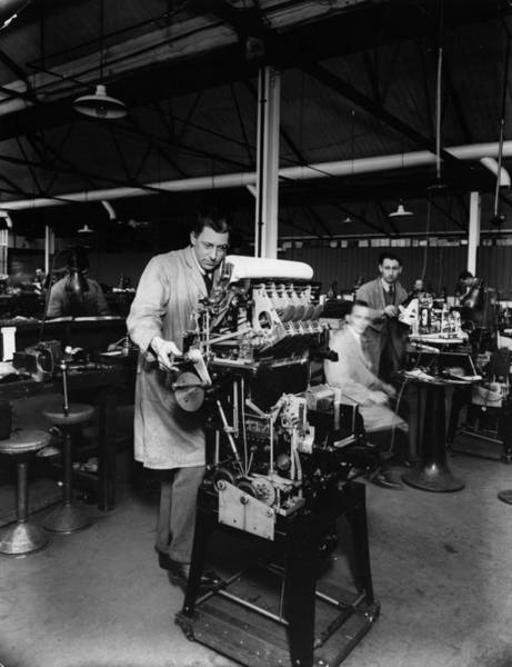 Manufacturing Wall Art - Photograph - Factory Worker by General Photographic Agency